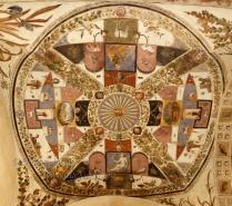 Ceiling in the Palazzo Chigi Saracini, Siena