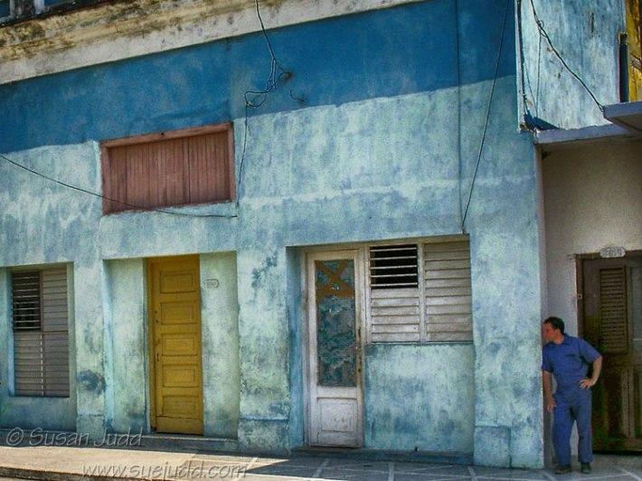 Man in the shadows, Cienfuegos, Cuba