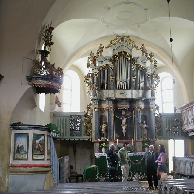 Interior, Hamruden Saxon church