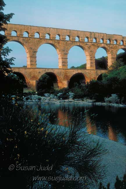Pont du Gard, evening light