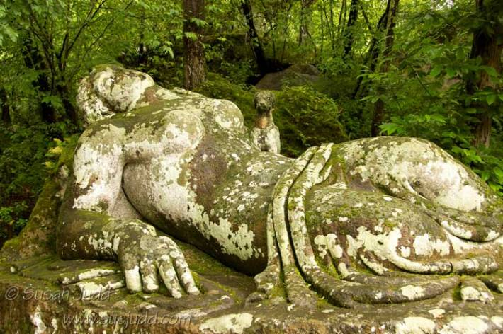 The Sleeping Nymph, as seen at the Park of the Monsters, Bomarzo