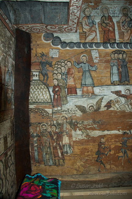 Interior painting, Ieud Wooden Church