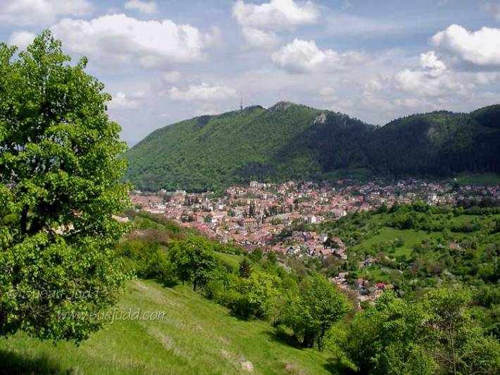 View of Brasov from the Carpathians
