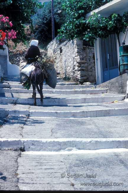 Laden donkey, Crete