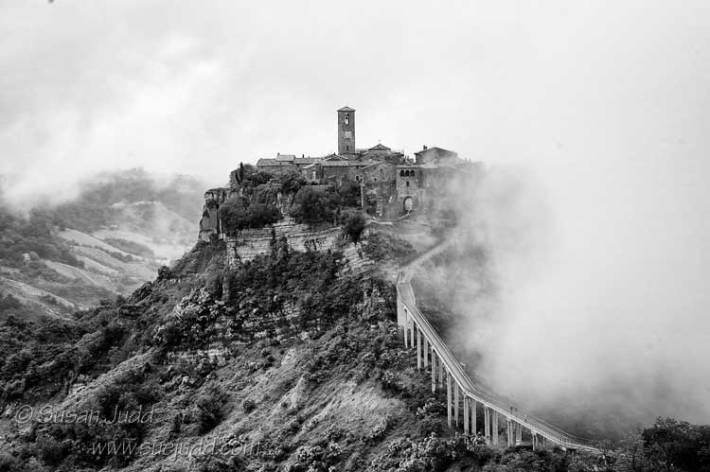 Early morning view of Civita di Bagnoregio