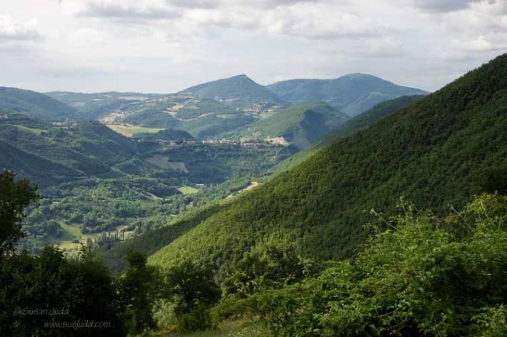 Umbria's green landscape