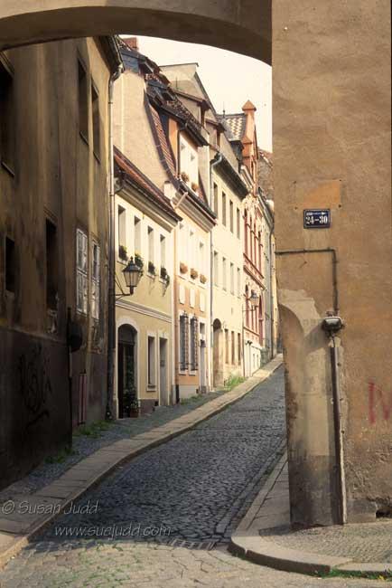 Cobbled street, Zittau