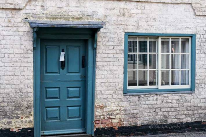 Teal door and window