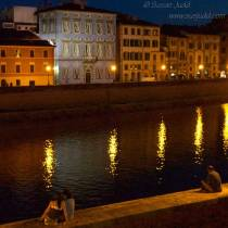On the bank of the Arno, Pisa