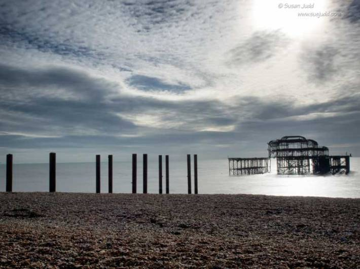 West Pier marooned