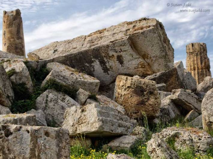 Classical ruins at Selinunte, Sicily