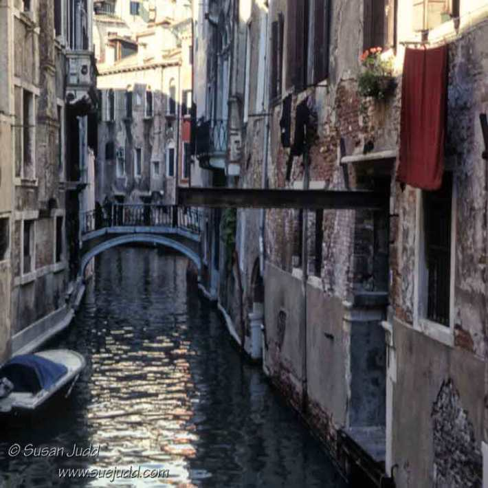 view up a side canal