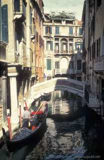 side canal and gondolier