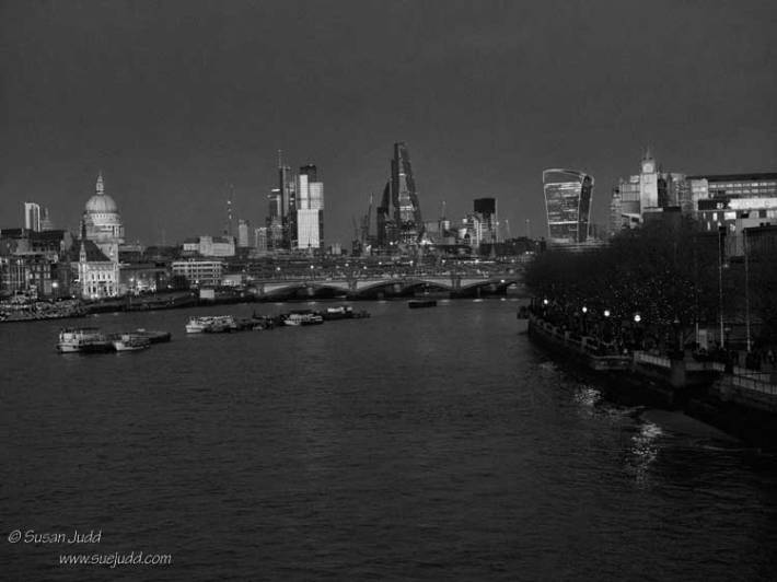 Evening scene, Waterloo Bridge