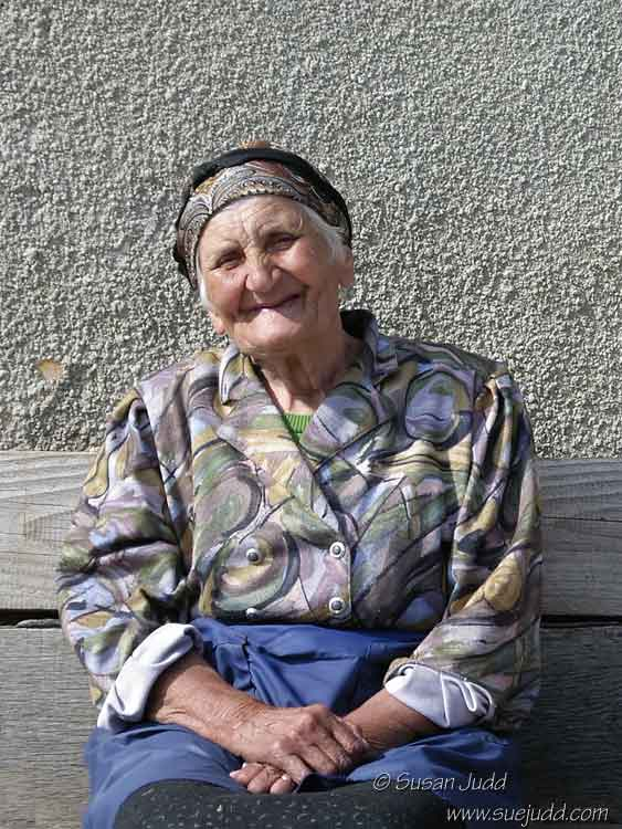 Old lady in Romania