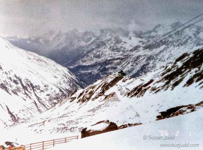 Wintry view from Obergurgl ski run