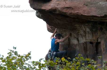 Scaling the rock in northern Alsace 2